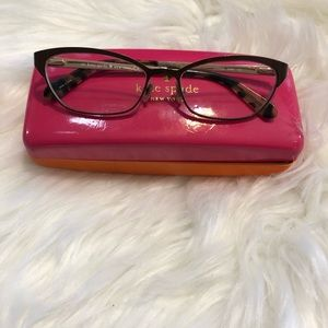 Kate Spade Brown Frame reading glasses with case